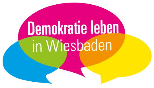 Demokratie leben in Wiesbaden Logo